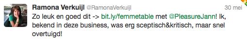 Reactie Ramona Verkuijl